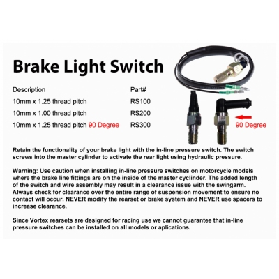 VORTEX BRAKE LIGHT SWITCH